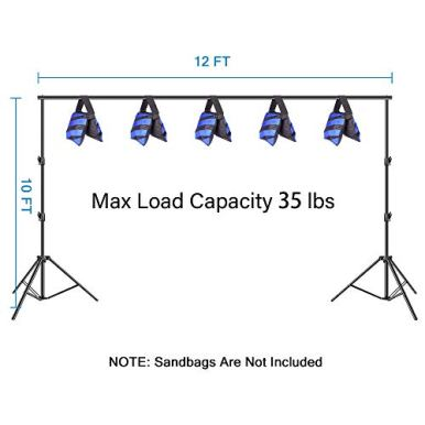 Emart-Photo-Video-Studio-Backdrop-Stand-10-x-12ft-Heavy-Duty-Adjustable-Photography-Muslin-Background-Support-System-Kit