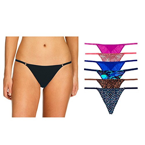 Undies.com Women's Microfiber String Thong, Assorted, XS