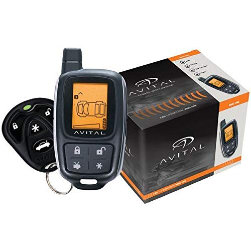Avital 3305L Responder 2-Way Security System with 4-Button LCD Remote
