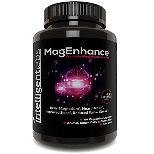 MagEnhance Best Magnesium Supplement, Magnesium-L-Threonate Complex, with Magnesium Glycinate and Taurate | Brain, Heart, Sleep, Memory and Fibromyalgia, 100% Money Back Guarantee! Vitamin Magnesium.