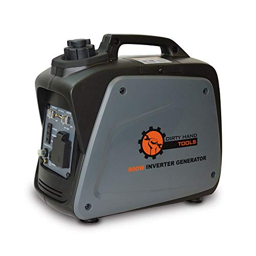 Dirty Hand Tools 104609 800W Inverter Generator - Gas Powered, 120V Outlets x21, USB x1, DC x1