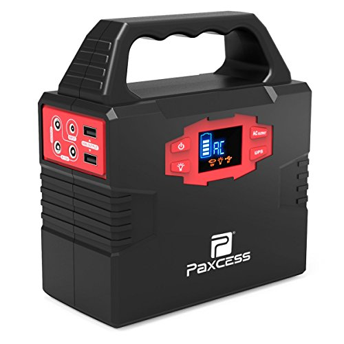 100-Watt Portable Generator Power Station, 40800mAh 151Wh CPAP Battery Pack, Home Camping Emergency Power Supply Charged by Solar Panel/Wall Outlet/Car with Dual 110V AC Inverter, DC 12V, USB Ports