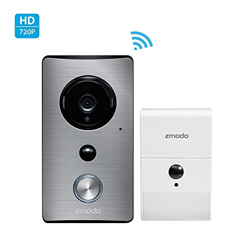 Zmodo Greet Wireless Video Doorbell with Beam Wi-Fi Extender - Cloud Service Available.