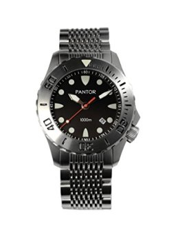 Pantor Seahorse 1000m Big Size 45mm Pro Automatic Dive Watch with Helium Valve Rotating Bezel Sapphire Extension Buckles