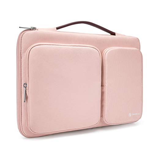 tomtoc 360 Protective Laptop Sleeve for 13 Inch New MacBook Air with Retina Display A1932, 13 Inch New MacBook Pro A1989 A1706 A1708, Microsoft Surface Pro 6 5 4, Water Resistant Laptop Briefcase