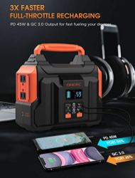 300W-Portable-Power-Station-OMORC-Pure-Sine-Wave-Camping-Generator-60000mAh-Portable-Power-Supply-with-45W-PDQC302350W-MAX-AC2-DC2-USB-Outputs-Solar-Lithium-Emergency-Backup-Power-for-CPAP