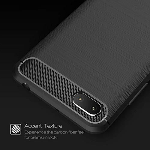 Explocart Premium 360* Protection Designed Soft Rubberised Rugged Armor TPU Back Case Cover for Xiaomi Redmi 6A -Black 6