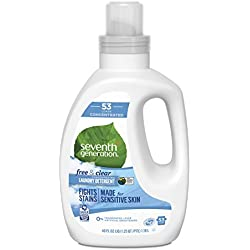 Seventh Generation Concentrated Laundry Detergent, Free & Clear unscented, 40 Fl Oz (53 Loads)