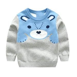BCVHGD Girls Winter Sweaters Cartoon Bear Baby boy Sweater Spring Autumn Children Pullover Knitted top Kids Sweater