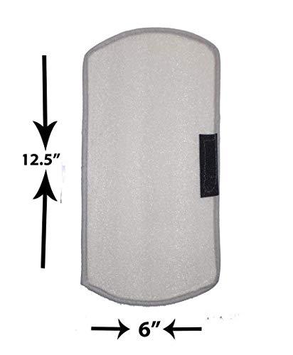 41s6jHCk20L Unique Productions Rexene Silver Fridge Top Cover + 2 Fridge Handle Set (21 X 42 Inches)