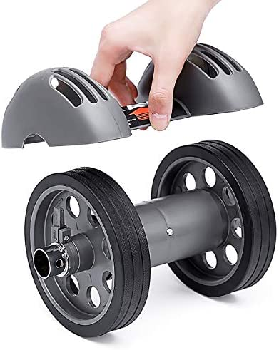 Merdia Abdominal Exercise Roller Wheel Core & Abdominal Trainers Double Wheels Fitness Equipment with Smart Brake and Rebound Knee Pad 5