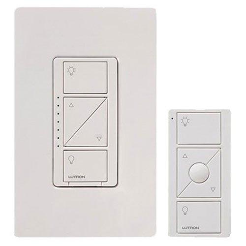 lutron p pkg1w wh caseta wireless 600 watt 150 watt multi location in wall di. Black Bedroom Furniture Sets. Home Design Ideas
