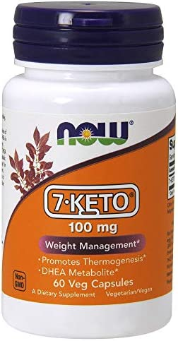 NOW Supplements, 7-Keto (DHEA Acetate-7-one) 100 mg, Weight Management*, 60 Veg Capsules 3