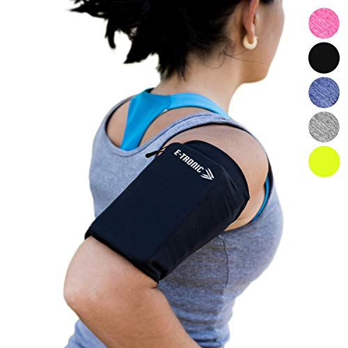 Phone Armband Sleeve Best Running Sports Arm Band Strap Holder Pouch Case Gifts for Exercise Workout Fits iPhone 6 6S 7 8 X Plus iPod Android Samsung Galaxy S8 S9 Note 5 9 Edge. For Women & Men MEDIUM