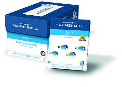 Hammermill Paper, Copy Paper Poly Wrap, 20lb, 8.5 x 11, Letter, 92 Bright, 5000 Sheets / 10 Ream Case (150010C) Made In The USA
