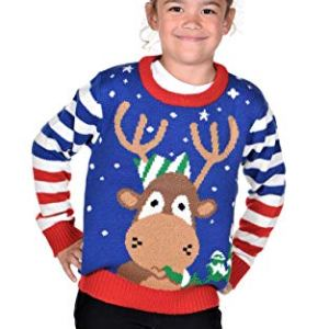 KESIS Children Rudolph The King Ugly Christmas Sweater