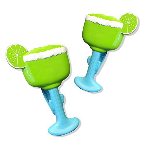 Margarita BocaClips by O2COOL, Beach Towel Holders, Clips, Set of two, Beach, Patio or Pool Accessories, Portable Towel Clips, Chip Clips, Secure Clips, Assorted Styles