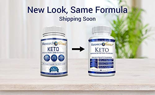 Research Verified Keto - Vegan Keto Supplement with 4 Exogenous Ketone Salts (Calcium, Sodium, Magnesium and Potassium) and MCT Oil to Boost Energy, Weight Loss and Focus in Ketosis - 1 Bottle 4