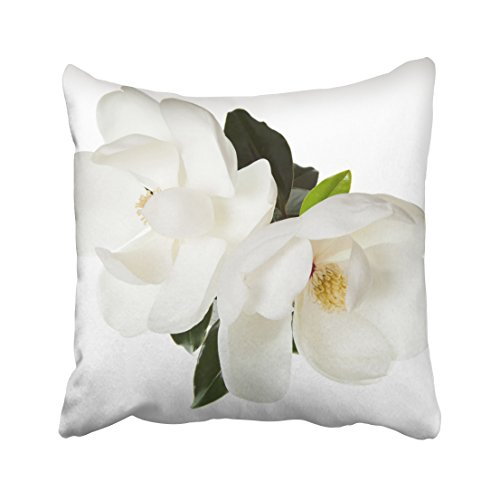 Capsceoll magnolia flower magnolias floral flowers Decorative Throw Pillow Case 18X18Inch,Home Decoration Pillowcase Zippered Pillow Covers Cushion Cover with Words for Book Lover Worm Sofa Couch