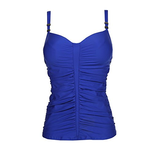 Dive in with this bra-sized tankini Hidden 3 column, 2 row hook and eye back closure Columns and rows increase with size