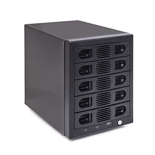 Syba 5 Bay Tool Less Tray Hot Swappable 2.5' and 3.5' SATA III RAID Hard Drive HDD External USB 3.0 Enclosure Windows MacOS Support
