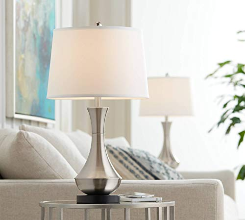 Simon-Modern-Table-Lamps-Set-of-2-with-Hotel-Style-USB-Charging-Port-Brushed-Steel-Empire-Shade-for-Living-Room-Family-Bedroom-Bedside-360-Lighting