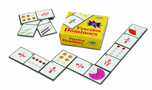 Learning Advantage 7852 Fraction Dominoes Card