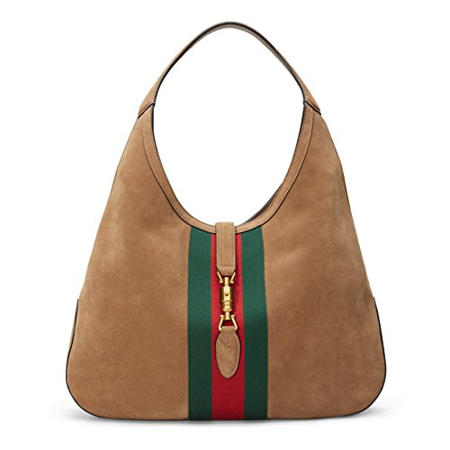 41sTYwZp6BL made in Italy Brown suede / Light pink suede lining Green/red/green signature nylon web
