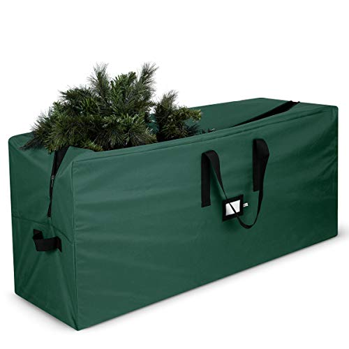 Premium Christmas Tree Storage Bag - Fits Up to 7 ft Tall Artificial Disassembled Trees, Durable Handles & Sleek Dual Zipper - Holiday Xmas Bag Made of Tear Proof 600D Oxford - 5 Year Warranty,