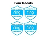 4pcs Ring Alarm Security decal for windows doors home doorbell or yard like a sticker NO BACKGROUND