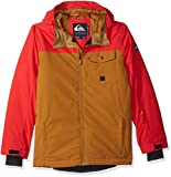 Quiksilver Boys' Big Mission Solid Youth 10K Snow Jacket, Golden Brown, 8/S