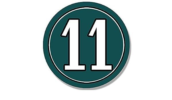Amazon Com Ghaynes Distributing Round 11 Philadelphia Eagles Colors Sticker Decal Carson Wentz Number 11 4 X 4 Inch Kitchen Dining