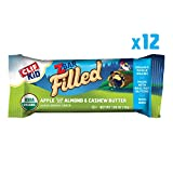 CLIF KID ZBAR FILLED - Organic Energy Bars - Apple Almond and Cashew Butter (1.06 Ounce Snack Bars, 12 Count)