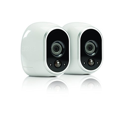 Arlo Security System by NETGEAR - 2 Wire-Free HD Cameras, Indoor/Outdoor, Night Vision (VMS3230) - Old Version, Works with Alexa