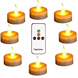 Topstone Led Tealight Candles with Remote and Timer,Amber Flameless Candles,Big Capacity Battery Operated Tea Light,Best for Wedding and Festival Decoration,Pack of 12