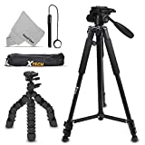 Xtech Double Tripod Kit with 72' Inch Tripod + 12' Flexible Tripod for Nikon Coolpix A900, B500, B700, L840, L830, W300, W100, P900, P610, AW130, AW120, S9900, S9700