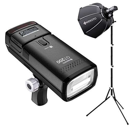GEEKOTO-Flash-Speedlite-Kit-200W-TTL-24G-Flash-Strobe-Light-with-Quick-Release-Softbox-18000-HSS-Cordless-Monolight-with-2900mAh-Battery-and-Provide-500-Flashes-in-001-21-sec