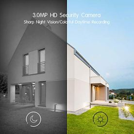 ANRAN-Wireless-Security-Camera-System3MP-Ultra-HD-Security-Camera-Outdoor-with-4-Channels-Mini-NVR-2-Way-Audio-Motion-Alert-Remote-Views-IP66-Waterproof-Cameras-with-Night-Vision128G-SD-Card