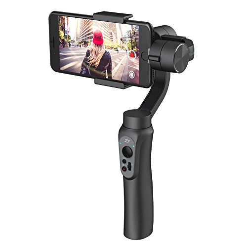 Zhiyun Smooth-Q 3-Axis Handheld Gimbal Stabilizer for Smartphone Like iPhone 7 Plus 6 Plus Samsung Galaxy S8 S7 S6 S5 Wireless Control Vertical Shooting Panorama Mode (Zhiyun Smooth Q Black)