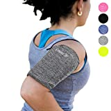 Phone Armband Sleeve: Running Jogging and Workout Cellphone Holder: Fitness Gear & Accessories for Women & Men iPhone 8 8plus X XR XS MAX 7 Plus 5s 6s iPod Galaxy S3 S5 S6 S7 S8 Note Edge Gray (M)