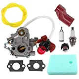 AISEN Carburetor for C1M-W44 545189502 545008042 Poulan PP133 PP333 Pro Gas Craftsman Trimmer 33cc Carb Boot Adapter Air Filter 545190501