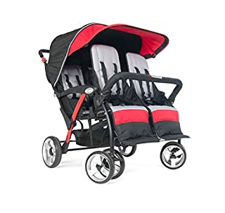 Sport Splash quad strollers are the value leader in multichild strollers. Ergonomic handle makes the stroller easy to maneuver. Canopy provides protection from weather and UV rays; mesh window allows visibility. Rubberized foam wheels provide a shock...