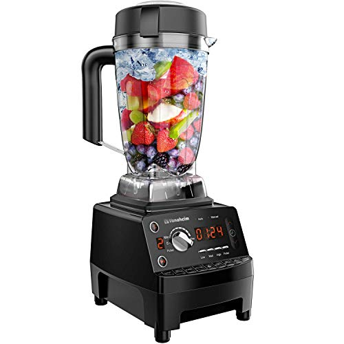 Vanaheim KB64 Professional 1450W 28000RPM 9 Pre-Programmed Setting Countertop Self Cleaning Crushing Blenders for Ice, Frozen Fruit, Shakes and Smoothies, 64 Ounce, Black