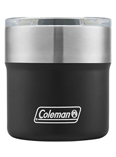 Coleman Sundowner Insulated Stainless Steel Rocks Glass, Black, 13 oz.