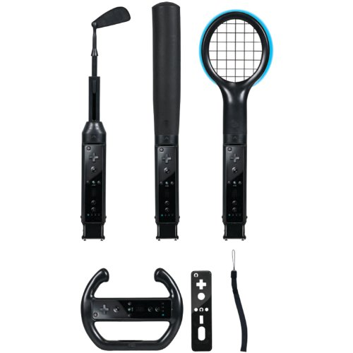 CTA Digital Wii Grand Slam Sports Pack (Black)