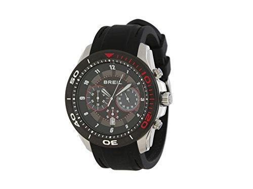 Breil Milano TW1219 10010050 Edge Chronograph Black Red Stainless Steel Men's Watch