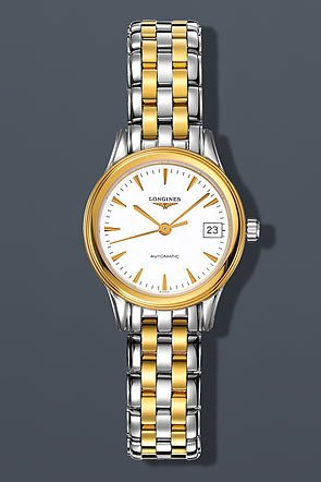 41t19QT03ML Two-tone stainless steel case. Two-tone stainless steel bracelet. White dial.