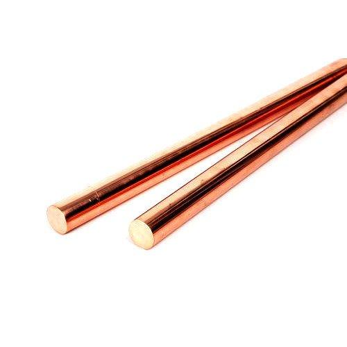 Copper Rod 3/16' Diameter 6' long Pin Stock for knife handle material, bolsters, metal craft & metal working hobbies, Set of 2 Pieces