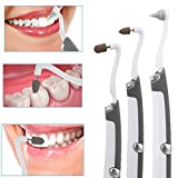 Zinno Sonic Vibration Dental Stain Remover Tooth Plaque Polishing Eraser Molars Set with LED Light, 3 Different Types of Grinding Heads Professional Home Dental Tool Kit