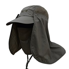 7cd9a7d140452 Oak-Pine Men Women Multifunction Outdoor Sport Folding Hat Fully Sun  (UPF50+) Protection Fishing Hiking Trekking Cycling Hunting Cap with Flap  Detachable ...